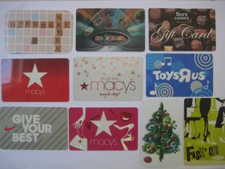 Ab) 10 Cartões Presente Sem Crédito Para Colecionar