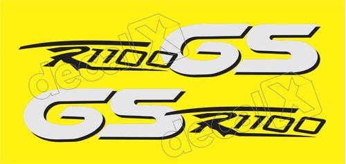 Imagem 1 de 2 de Emblema Adesivo Bmw R1100gs Amarela Par Bwr1100gs4