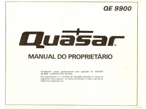 Manual Do Quasar Qe-9900