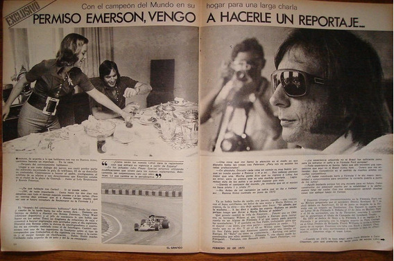 Revista El Grafico Fittipaldi Campeão Do Mundo 1973