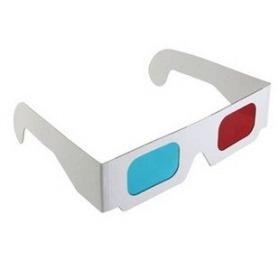 2 Óculos 3d Movie Dvd Vermelho Azul - Papelão Frete Grátis