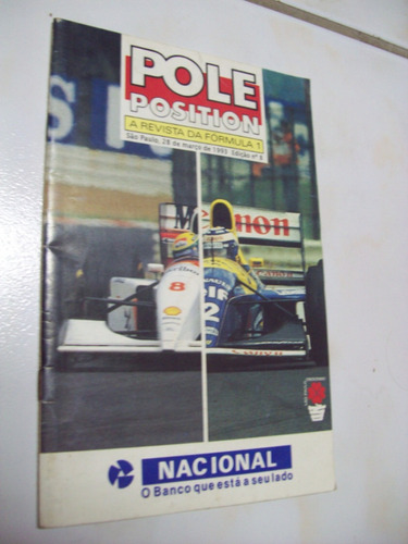 Pole Position Nº 8 Guia Oficial Gp Brasil F 1 Ayrton Senna