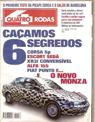 Revista Quatro Rodas - Caçamos 6 Segredos Corsa 6p/ Escort S
