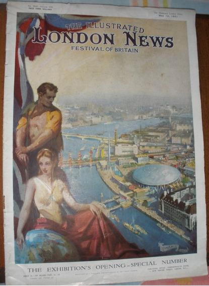 Revista Antiga Anos 50 Propagandas.fotos London News Raro