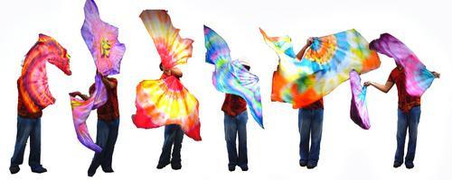 Dancing Flags Flagger Swing Malabares E Circo - Feita A Mão