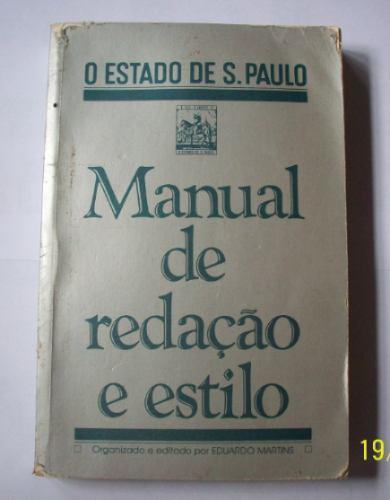 Livro Manual De Redação E Estilo - O Estado De São Paulo