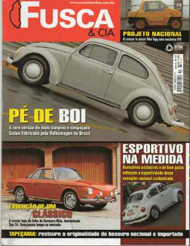 Fusca & Cia Nº52 Vw Pé De Boi Karmann Ghia Type 34 Mini Tupy