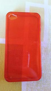 Capinha Vermelha Transparente iPhone 4s