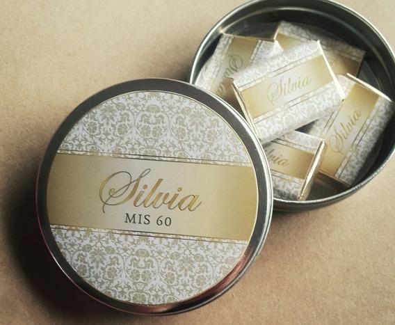 Latitas Pastilleras Con Chocolates Personalizados Pack X 10