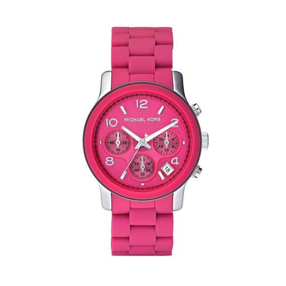 Relógio Luxo Michael Kors Mk5206 Orig Chron Anal Pink!!!