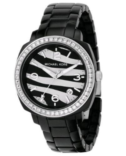 Relógio Luxo Michael Kors Mk5203 Orig Anal Black Zebra!!!