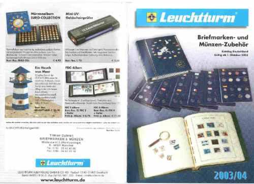 Catalogo Alemão Leuchttunrm Material Numismático Filatelico