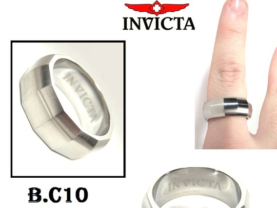 Anel Invicta - In Stainless Steel. Tamanho 9 Ou 19mm.
