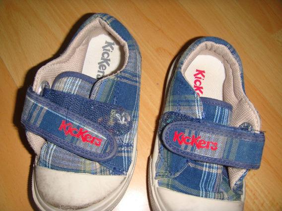 Kicker S , Zapatillas Con Velcro