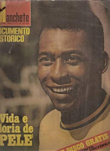Manchete Documento Histórico Vida E Glória De Pelé C/disco