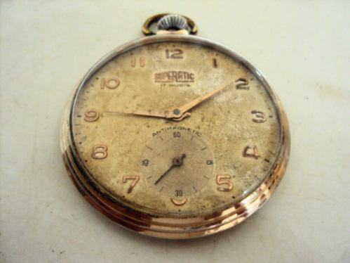 Relógio De Bolso Antigo Superatic - 17 Rubis