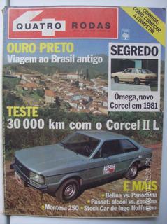 Revista Quatro Rodas N- 242 Omega Corcel Belina Montesa