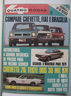 Revista Quatro Rodas N- 215 Maverick Chevette Corcel Fiat