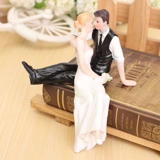 Topo De Bolo Noivinhos Sentados Delicado Casamento Lindos