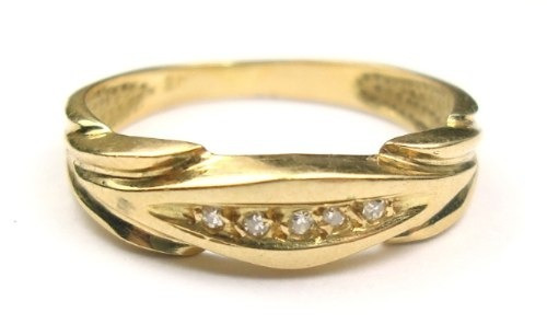 Anel Aparador Diamantes Ouro 18k
