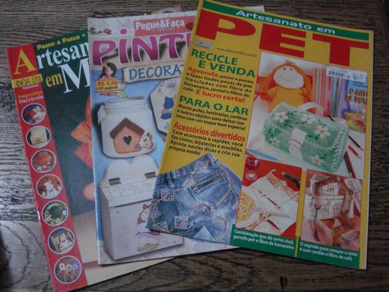 Revistas De Pintura Em Madeira -artesanato-3 Unidades