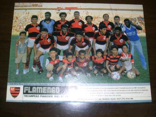 Poster Flamengo Do Piauí Tricampeão