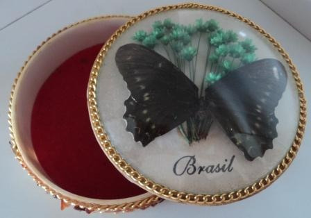 Porta Jóias C/borboleta Feita Artezanalmente E Pedras (198)