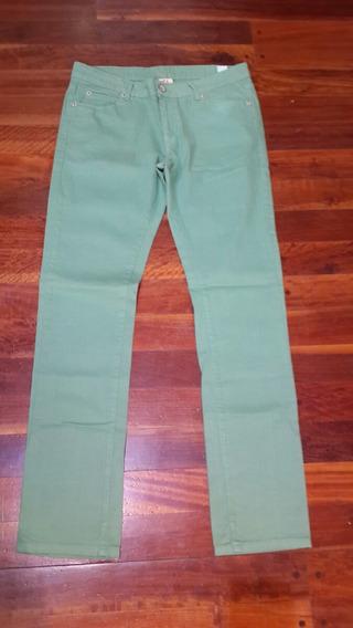 Pantalón Verde Agua Zara Hombre Verano