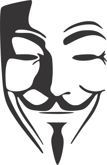 Adesivo Anonymous - 14x10cm - Frete Fixo - Carro Moto