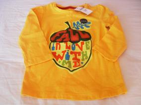 Camiseta Manga Longa Menina Baby Gap 12 A 18 Meses Importado