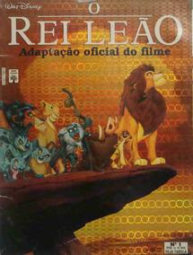 Disney O Rei Leão Revista Adaptação Oficial Do Filme 1994