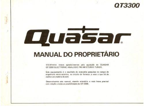 Quasar Qt-3300 Manual De Instruções