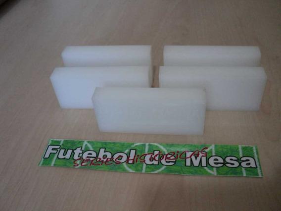 5 Goleiros De Acrílico - Brancos - Futebol De Botão/mesa
