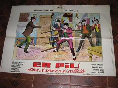 Cartaz De Cinema Original Er Piu Storia D