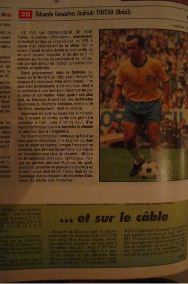 Revista France Football Tostao Garrincha Pele Rai Brasil