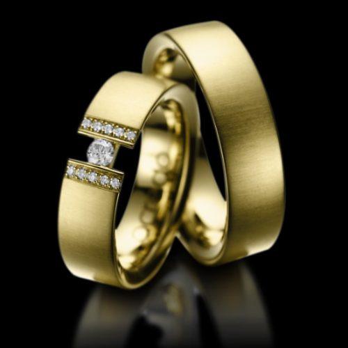 Alianças De Ouro Certificado De Noivado Casal