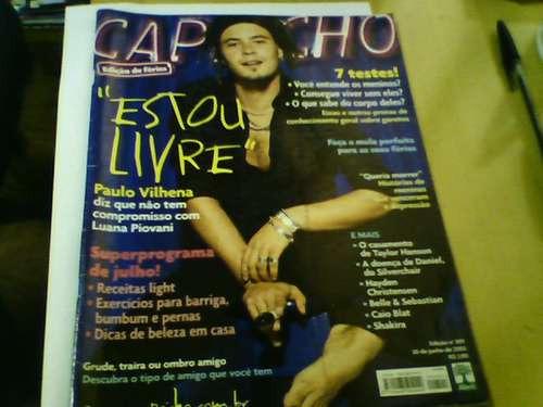 Revista Capricho N°891 Jun 2002 Paulo Vilhena