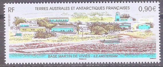 C@- Francia - Antartida - Base Martín De Vivies - Mint