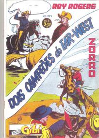 *ock*novo Gibi Nº 1779-ano 1951-c/ Zorro E Roy Rogers-
