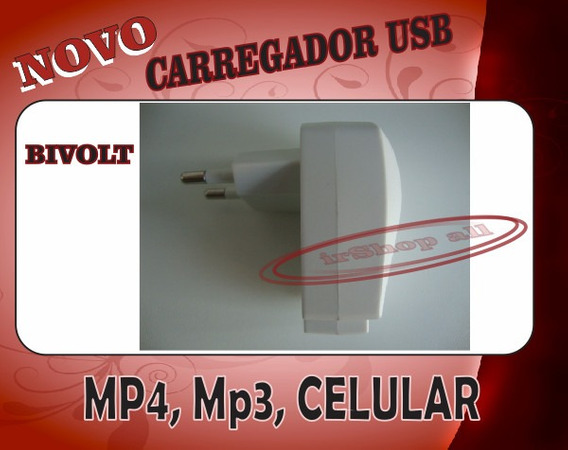 Carregador Universal Usb Celular, Mp3, Mp4, iPod, iPhone