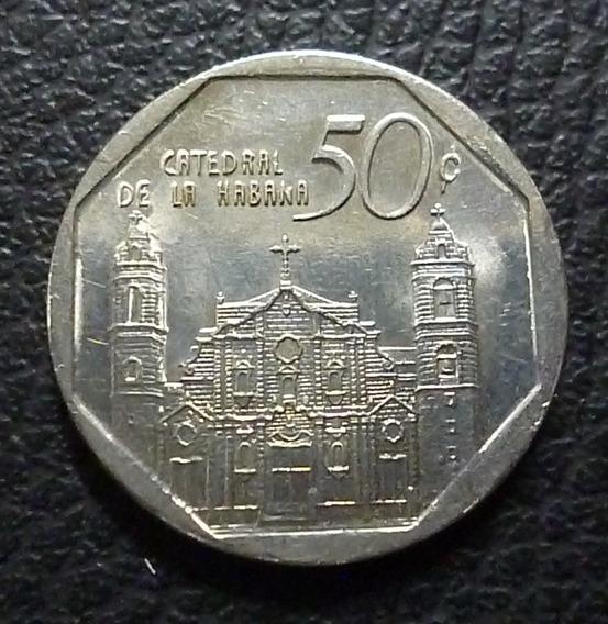 Cuba Moneda 50 Centavos Cuc Au 2007 (catedral De La Habana)