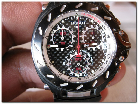Tissot T-race Crono Quartz Bracelete Preto