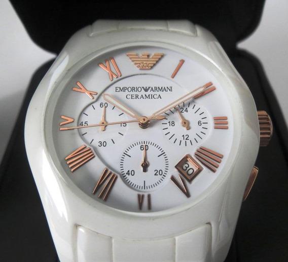 Emporio Armani Ar1416 Museo Ceramica Oro Bianco Chronometer