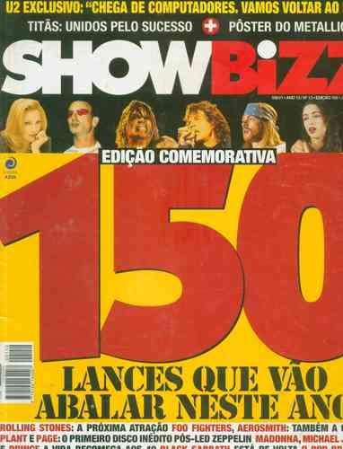 Revista Showbizz Nº13 - Edição Comemorativa Com Pôster