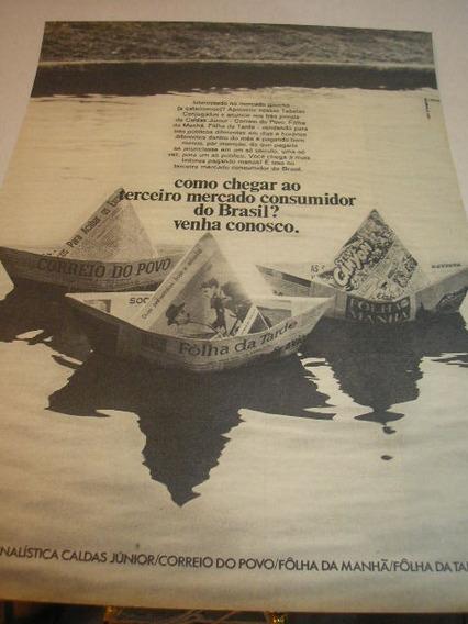 ( L - 290/ G ) Propaganda Antiga Jornais De Santa Catarina