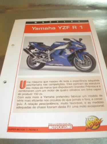 ( L - 430 ) Folder Motocicleta Yamaha Yzf R 1