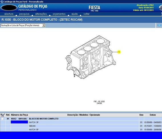 Motor Bloco Cheio Parcial Zetec Rocam 1.0 Gasolina