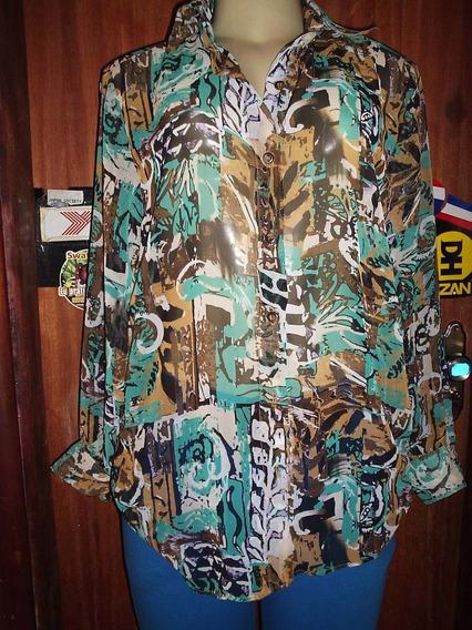 Camisa Feminina Crepe De Seda G.
