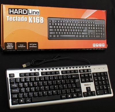 Teclado Hardline Multimídia Usb K-168 C/ 5pçs