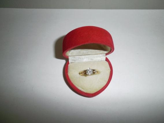 Anillo Compromiso De Oro Amarillo 14k Con Diamantes 1.01 K